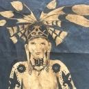 #3 OIL PAINTING: 1390 x 900mm DAYAK HUNTER FIGURE Sculpture Drawing Headhunter