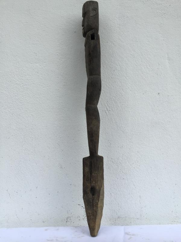 WEATHER ERODED STATUE 730mm Patung Police Dayak Dyak Primitive Figure AUTHENTIC