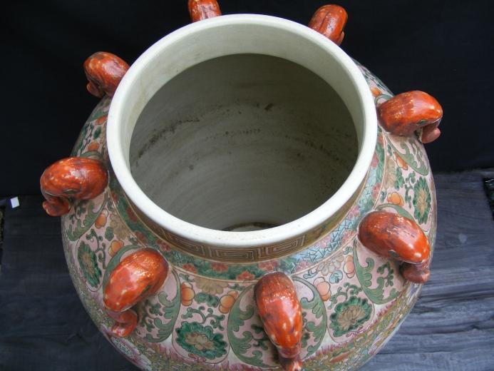 MASSIVE HUMAN SIZE 820mm Covered Pot Ginger Jar Dragon & Phoenix Vase Pottery