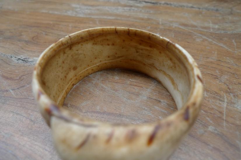 FREE SHIPPING 60mm OLD BANGLE Seashell WRIST BRACELET Dayak Art Jewel Jewelry #4