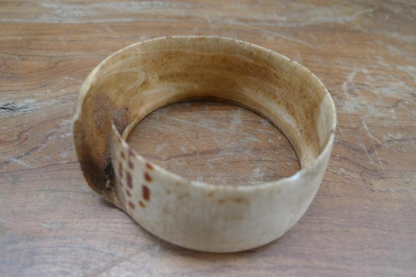 FREE SHIPPING 65mm OLD BANGLE Seashell WRIST BRACELET Tribe Jewel Jewelry Art #2