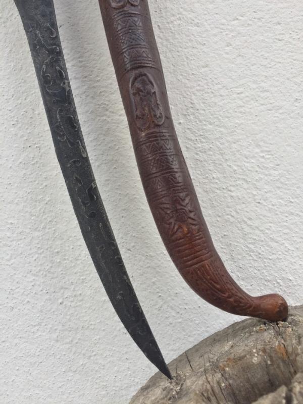 BATAK DAGGER 410mm KNIFE Badik Keris Kris Samurai Sword Knife Martial Art Weapon #2