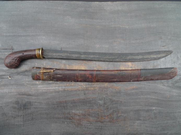PEDANG SUMBAWA Antique Golok Sword Knife Parang Weapon Arms Lesser Sunda Bali