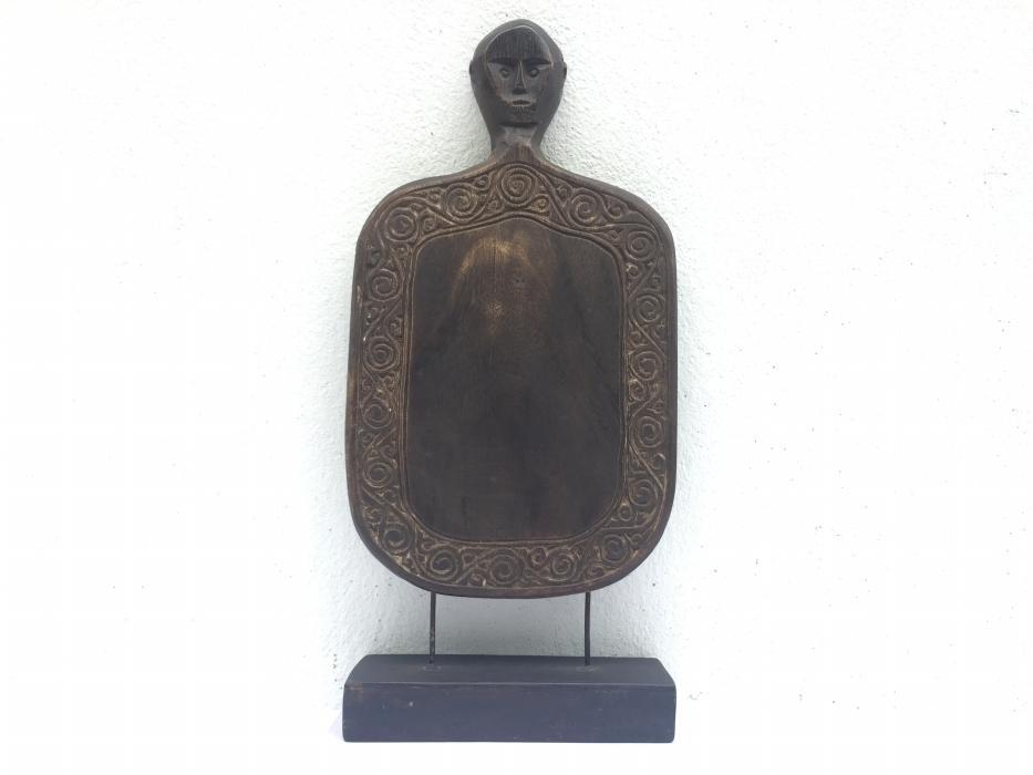 KABIRU PANEL 380mm SUMBA INDONESIA Tribal Panel Board Statue Figure Wood Carving