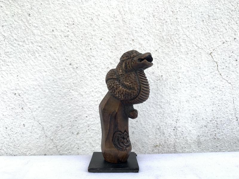 KERIS HILT 90mm SERPENT HANDLE Snake Figure Statue Weapon Sword Knife Dagger Art