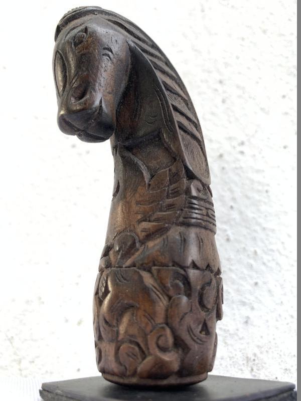 KERIS HILT 85mm HORSE HANDLE Animal Figure Statue Weapon Sword Knife Dagger Kris
