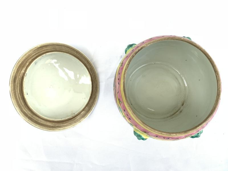 YELLOW and GREEN 215mm Covered Jar Kamcheng Peranakan Baba Nyonya chinese malay Porcelain Asia Asian Art