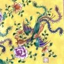 XXXL LARGE (500mm x 870mm) CERAMIC PAINTING Phoenix chinese wall panel Asia Asian Art Culture Drawing