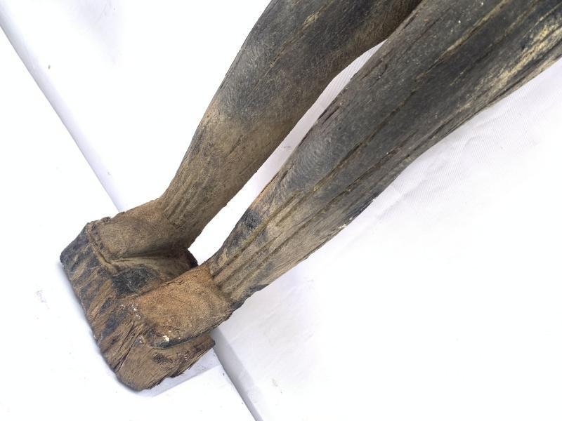ANCESTRAL BORNEO STATUE 1000mm SCULPTURE Dayak Tribal Figure Wood AGED IRONWOOD
