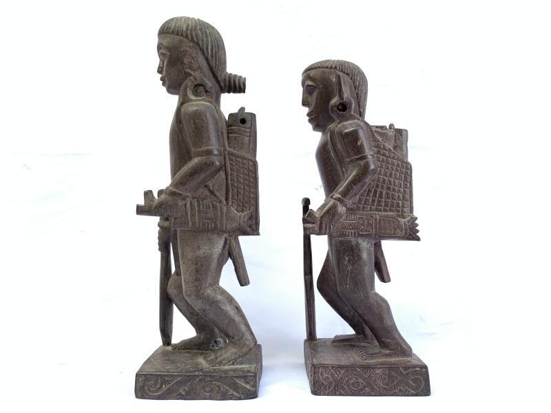 DAYAK ANCESTRAL WARRIOR Authentic Pieces Statue Sculpture Image Figure Tusau