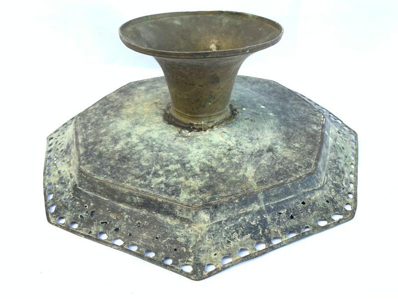 OCTAGONAL 430mm BRASS TRAY Antique Wedding Heirloom Food Dish Plate Exquisite Wealth Display