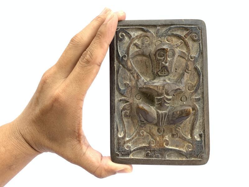 TRIBAL TATTOO Ink BLOCK Art Body Piercing Statue Figure Drawing Dayak Borneo