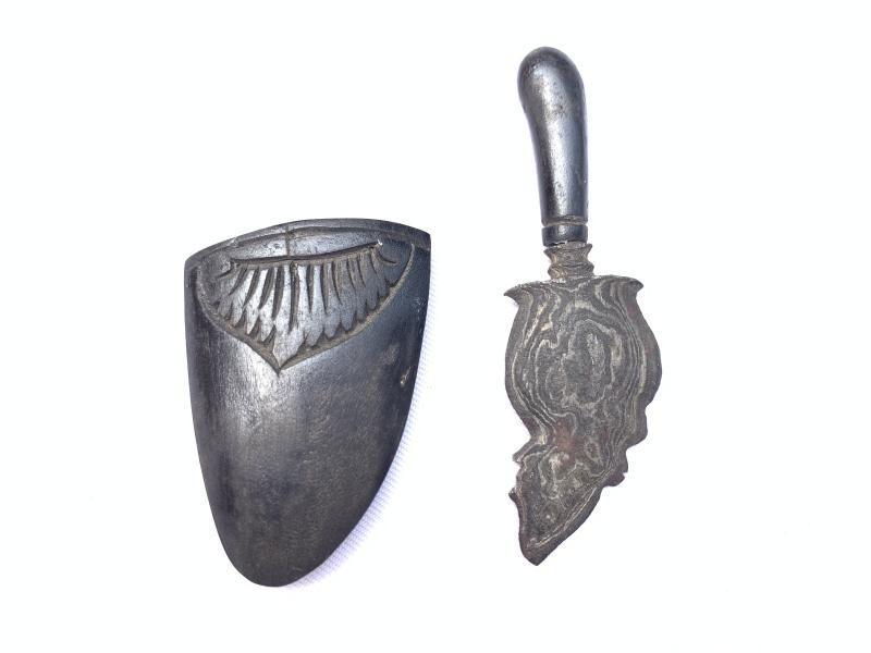 Shaman Talisman MINIATURE KRIS 85mm KERIS JANTUNG Dagger Knife Blade Sword #2