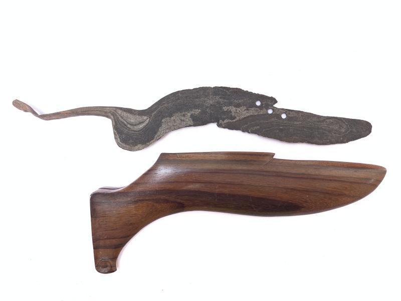 270mm OLD KUJANG JAWA BARAT Knife Weapon Blade Dagger Sword Kris Keris Machete
