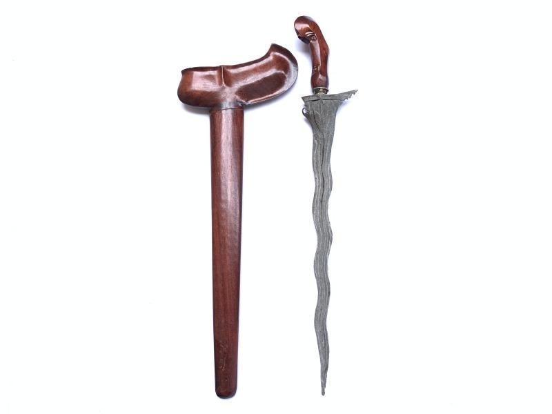WHITE BLADE KRIS & QUALITY SAWO WOOD Weapon Knife Blade Dagger Sword Kriss Keris