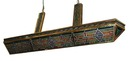 58.4026 Art Deco V-Shaped Stained Glass Lighting Fixture