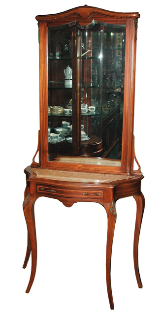 54.1296 19th C. French Console/Hall Piece with Beveled Mirror
