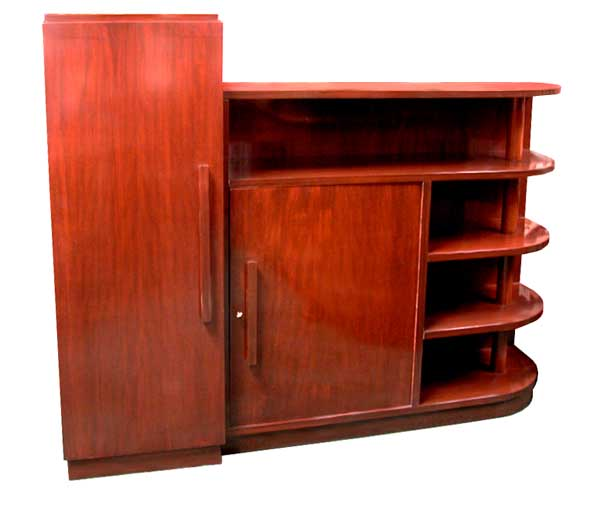 20.1405 Mahogany Art Deco Bookcase c.1930