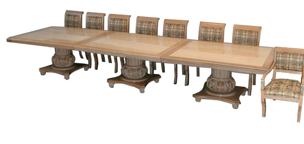 44.5597 Beautiful Large 20th C. Contemporary Custom Made Dining Set