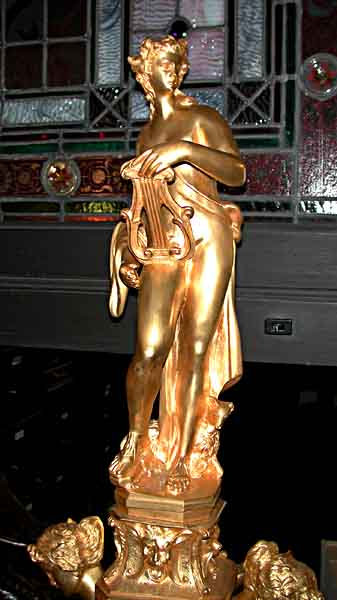 70.5622 Pair of 19th C. Figural Dore Bronze Andirons