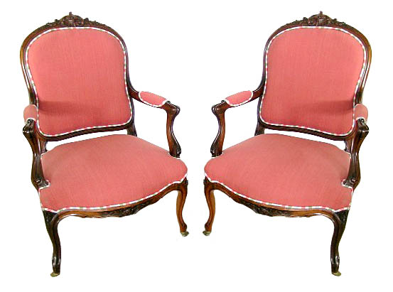 30.5658 Set of 8 Matching Rosewood Art Nouveau Chairs