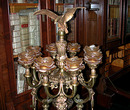 57.571 19th C. Cast Bronze 12 Light Floor Lamp