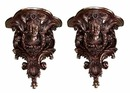 60.4437 Pair of Bronze Wall Sconces with Female Heads