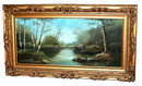 77.5765 19th C. American Oil on Canvas Landscape Painting