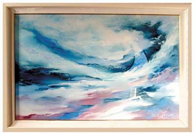 78.1414 Vance Larson Original Pastel in Acrylic Frame