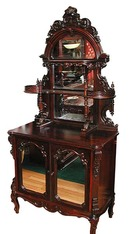 35.5847 Antique Rosewood Etagere Signed R.W. Hutchings N.Y.