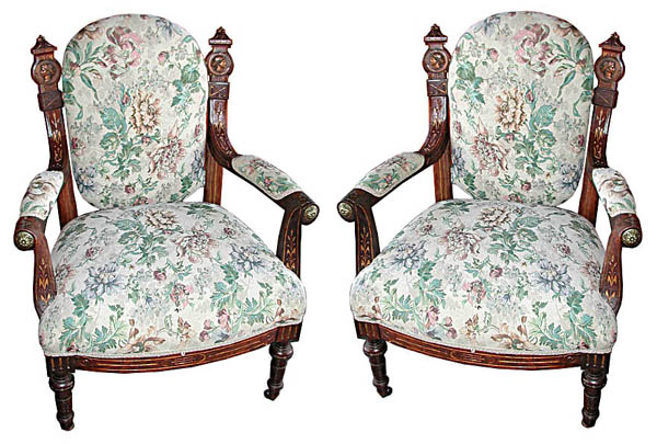 29.5883 Pair of Victorian Chairs by Pottier & Stymus