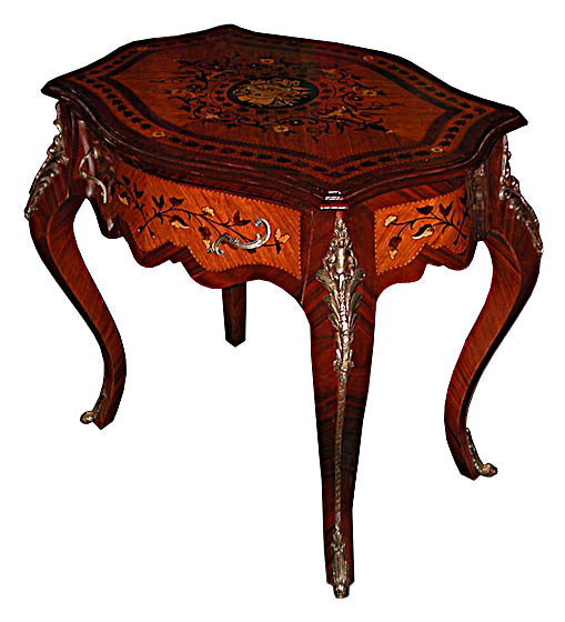 17.5887 Beautiful French Inlaid Table