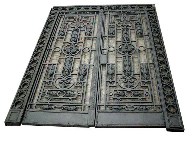 65.5900 Gorgeous Framed Iron Entry Doors c. 1890