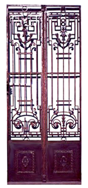 65.5902 Pair of French Wrought Iron Entry Door