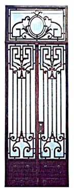 65.5903 Pair of French Wrought Iron Entry Doors
