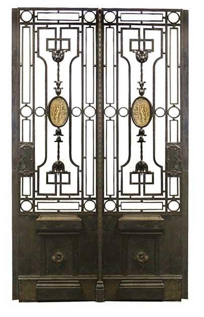 65.5904 Antique Quadruple Panel Iron Gate