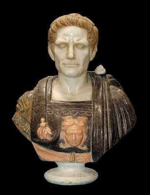 70.42297 Solid Marble Busts of Various Roman Emperors.