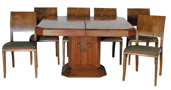 43.1163 7-Pc. Art Deco Dining Set c. 1925