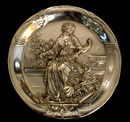 83.6034 Pair of Figural Female Art Nouveau Plaques.