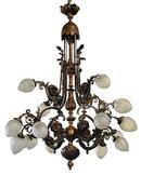 56.6035 Bronze French 16 Light Belle Epoque Chandelier