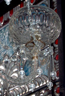 57.6058 19th C. Two Tier Crystal and Prism 8 Arm Chandelier