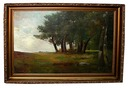 77.6092 19th C. Oil on Canvas Landscape Painting Signed E. H. Meyer