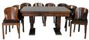 43.1182 Art Deco Walnut & Burl 11-Pc. Dining Room Suite