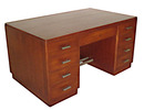 10.1437 Art Deco double pedestal mahogany desk