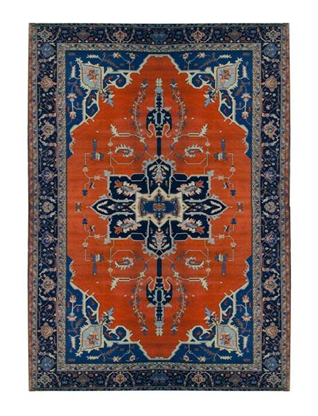85.2796 Heriz Persian Rug c. 1920