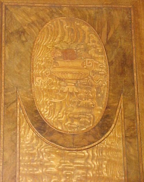 53.4443 Inlaid Italian Armoire w/Bronze Ormolu c. 1920