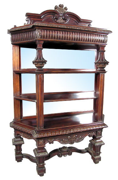 23.6411 American Victorian Rosewood Etegere of the Highest Quality