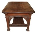 08.6412 American Victorian Rosewood Partners Library Table by Herter