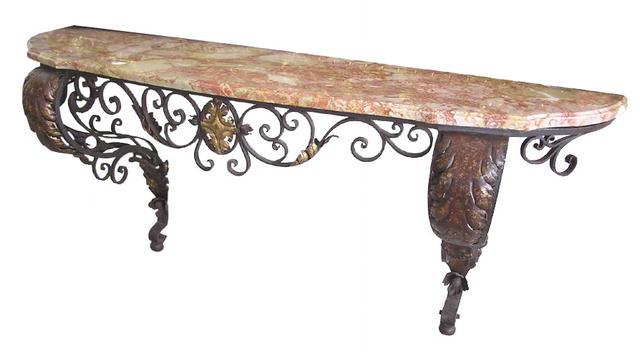 54.6413 French Wrought Iron Console Table