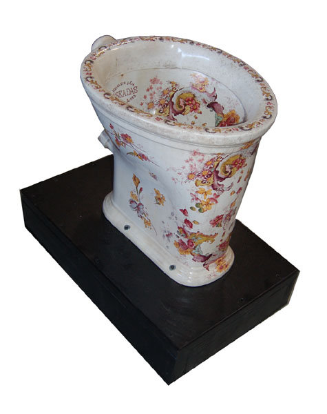 83.6414 Decorated Toilet Bowl - Bowl Interior & Exterior Decorated with Leaves & Flowers